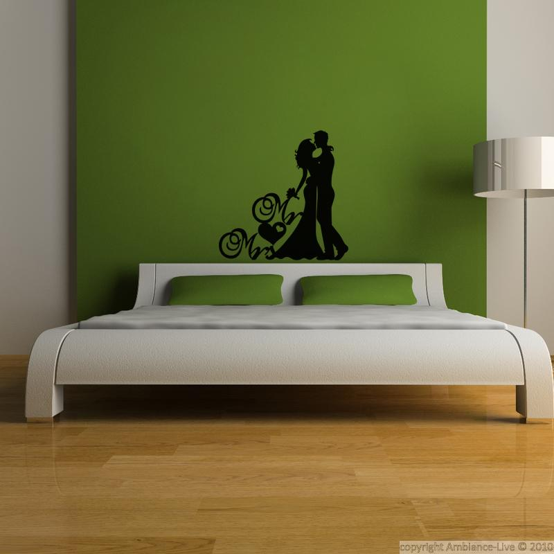Wall decal wedding mr mrs decoration wall decals quotes for Ambiance decoration