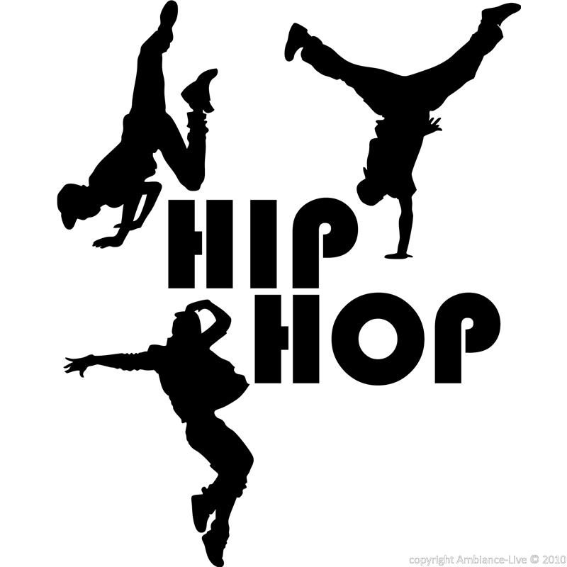 Wall Decal Silhouette Dancers Hip Hop Music amp Cinema Ambiance sticker