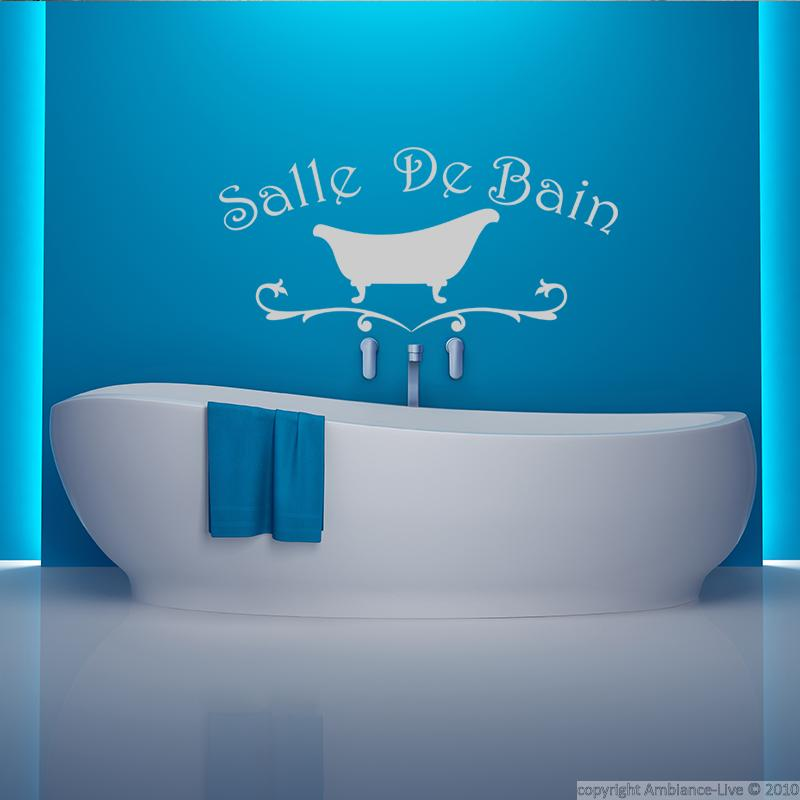 sticker salle de bain design baignoire stickers salle de bain et wc salle de bain ambiance. Black Bedroom Furniture Sets. Home Design Ideas