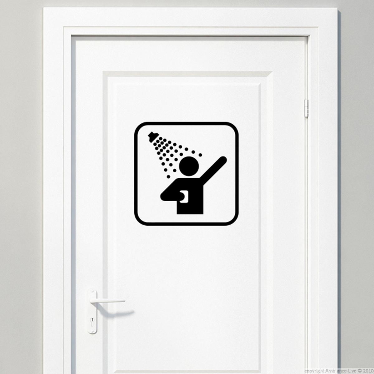 sticker porte panneau douche stickers salle de bain et wc ambiance sticker. Black Bedroom Furniture Sets. Home Design Ideas