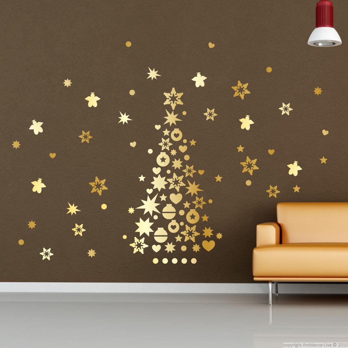 Wall decal christmas decoration wall decal business wall for Ambiance decoration