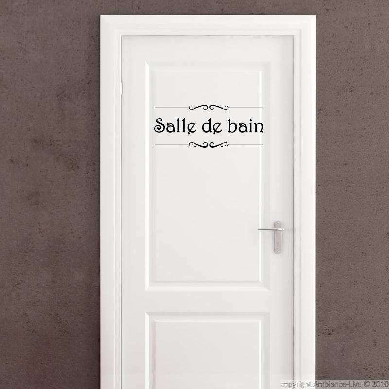 Wall decal door salle de bain and toilettes wall for Ambiance salle de bain