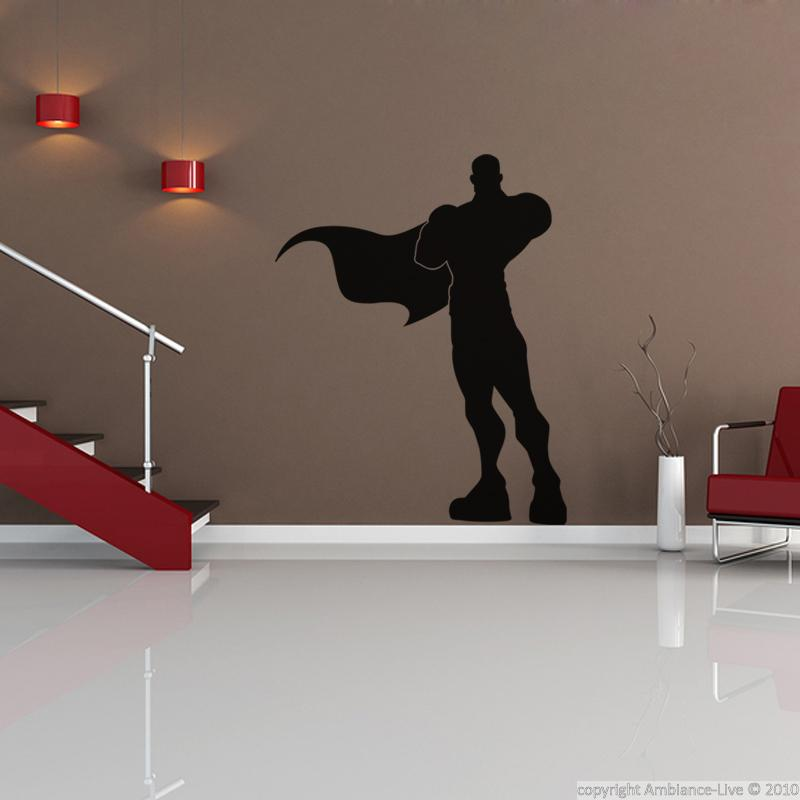 figures wall decals wall decal superhero silhouette