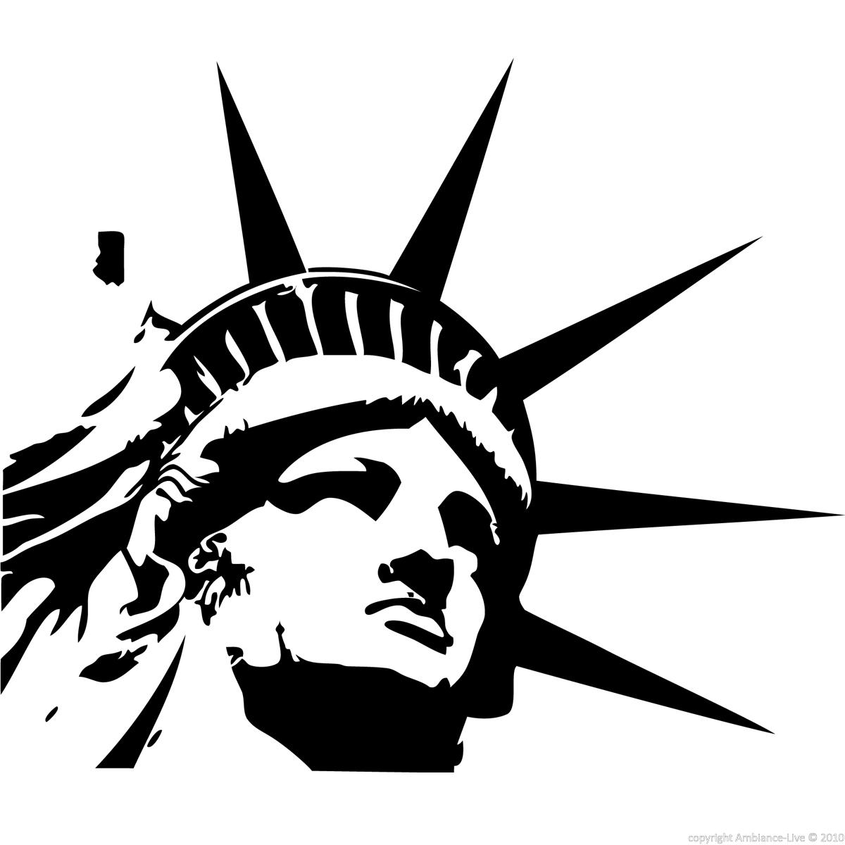 Statue of Liberty Drawing Head Statue of Liberty