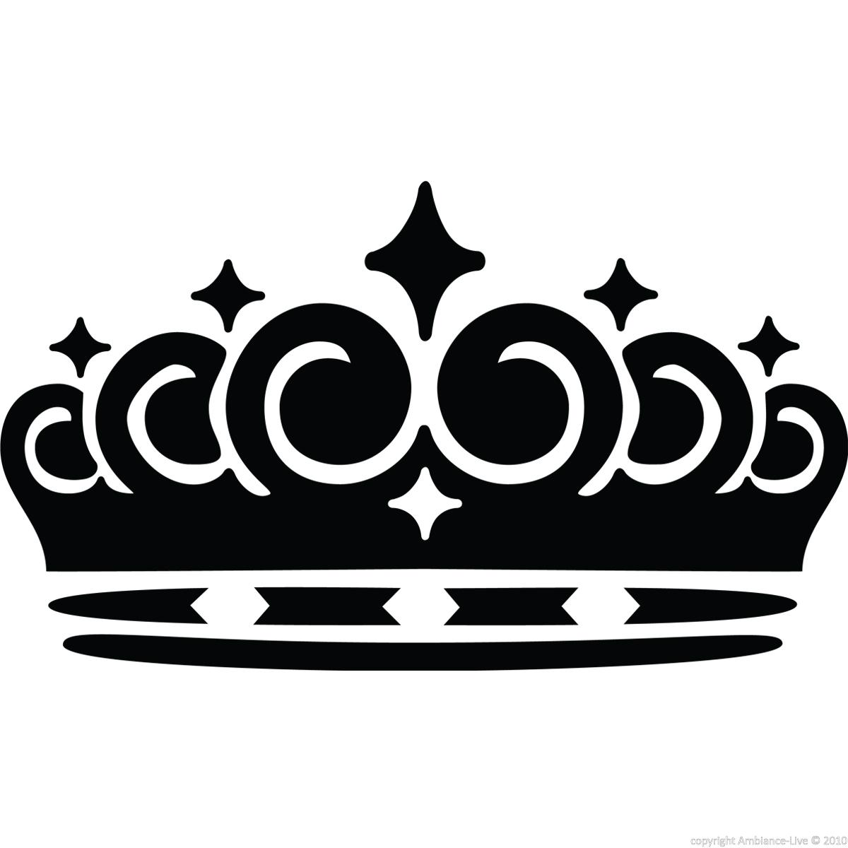 London wall decals wall decal queen 39 s crown ambiance for Stickers muraux
