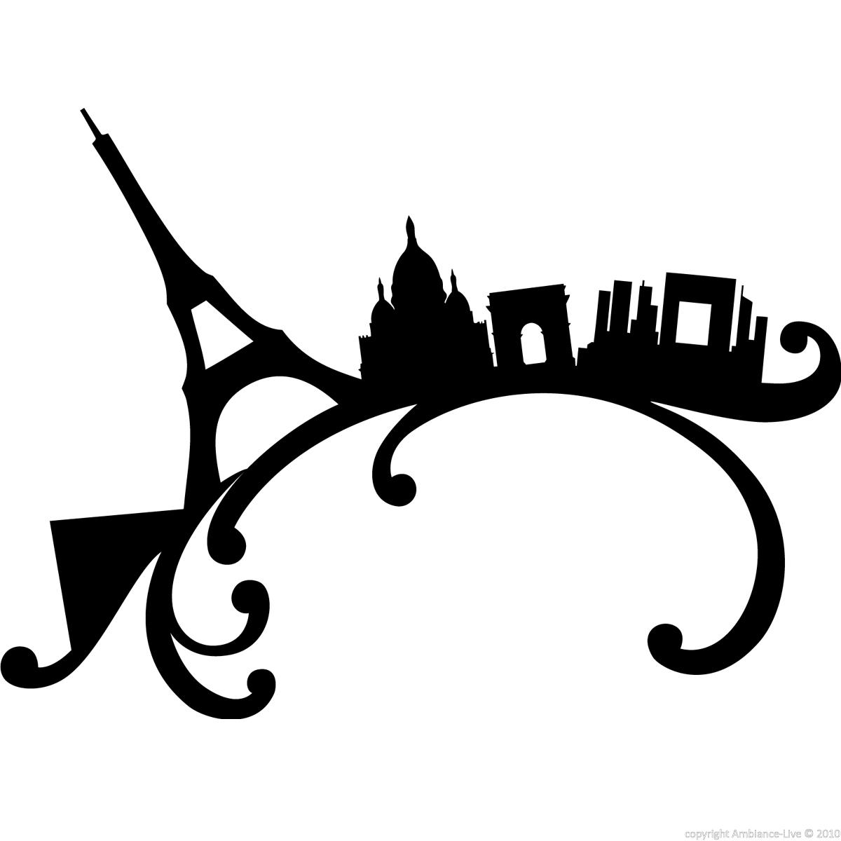 Stickers muraux paris sticker paris sur une vague ambiance - Stickers muraux paris ...