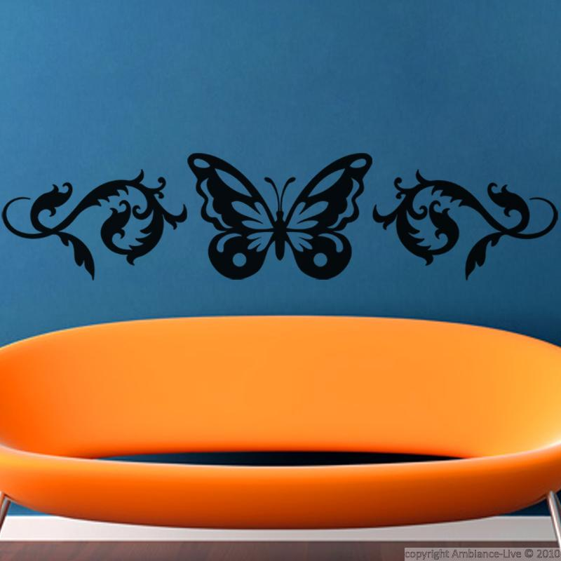 stickers muraux animaux sticker design papillon ambiance. Black Bedroom Furniture Sets. Home Design Ideas