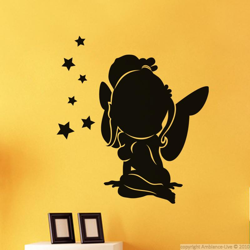 wandtattoos kinderzimmer wandtattoo junge fairy silhouette ambiance. Black Bedroom Furniture Sets. Home Design Ideas