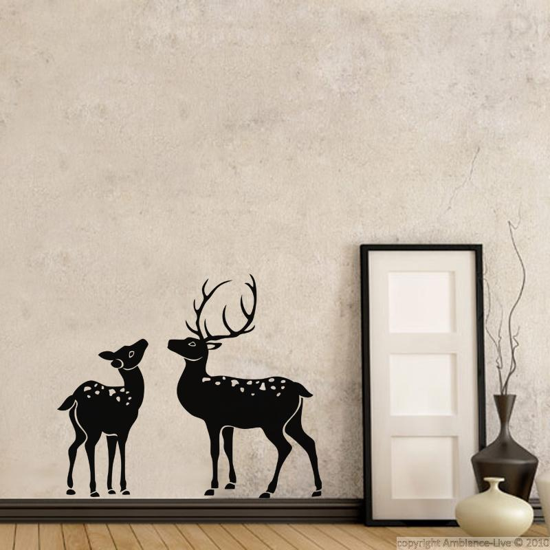 Animals wall decals silhouette deer wall decal for Deer wall decals