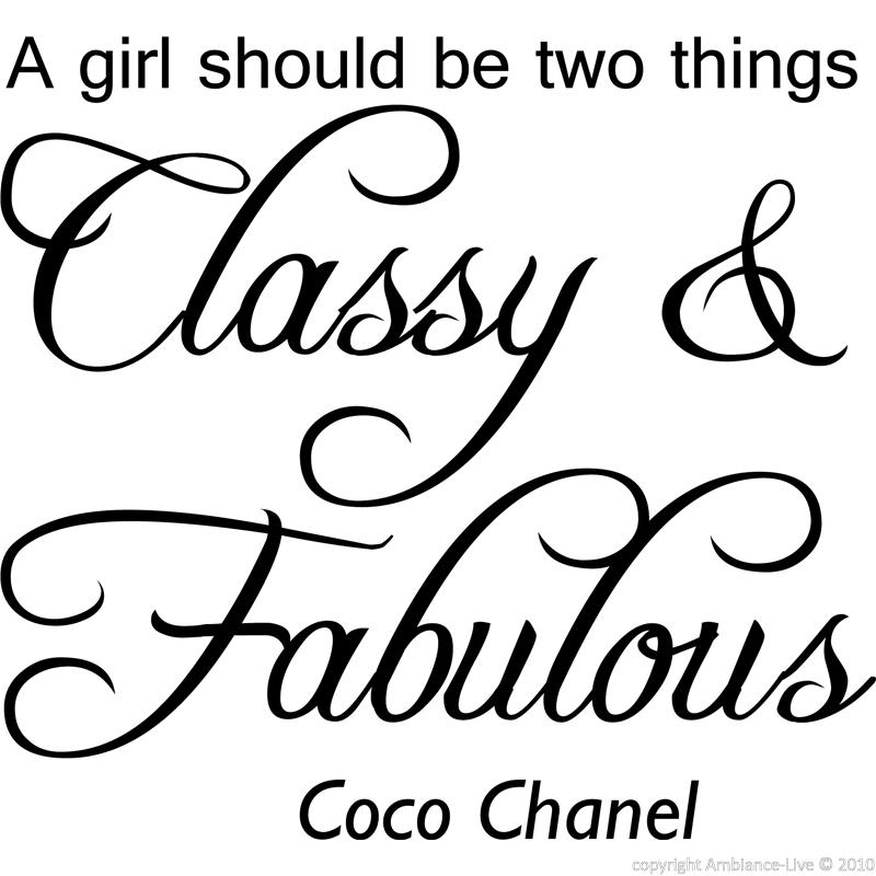 Citaten Coco Chanel : Muursticker a girl should be two things coco chanel