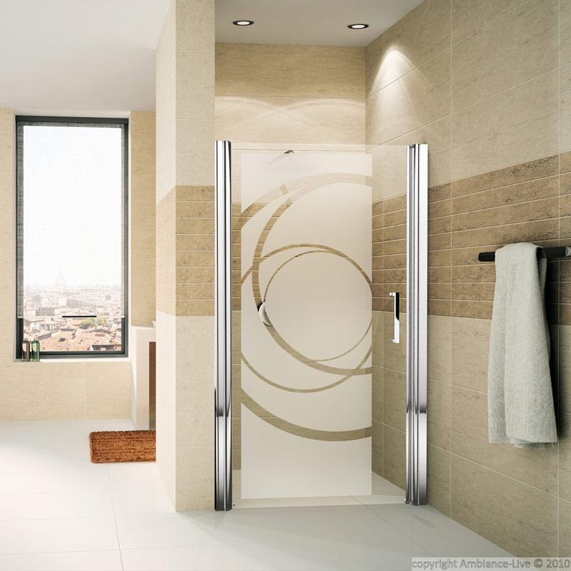 Shower door wall decal design curves wall decals art and - Sticker porte de placard ...