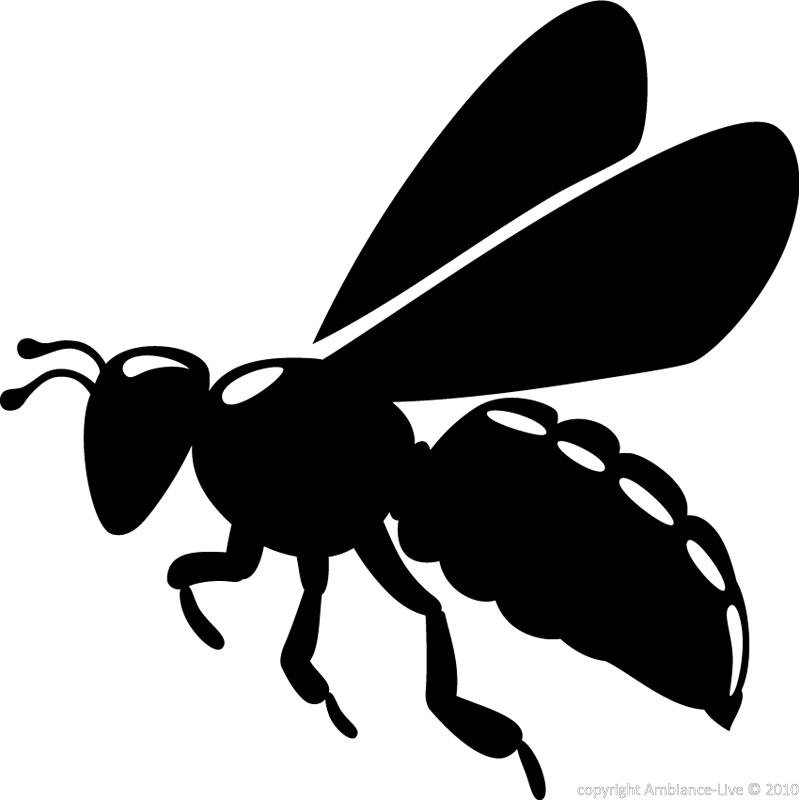 Animals Wall Decals Bee Silhouette Decal Ambiance