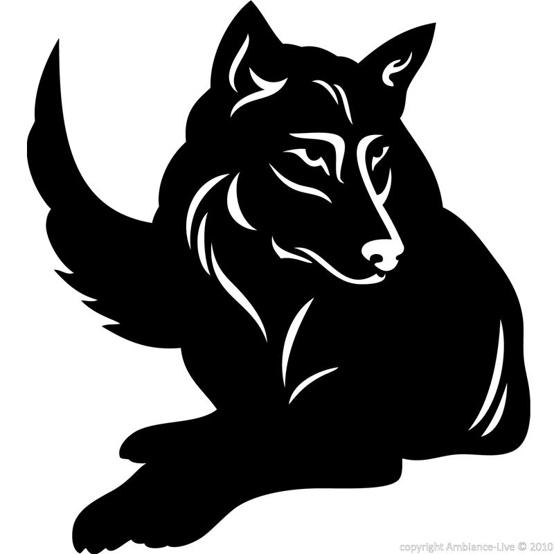 Animals Wall Decals Silhouette Wolf Decal