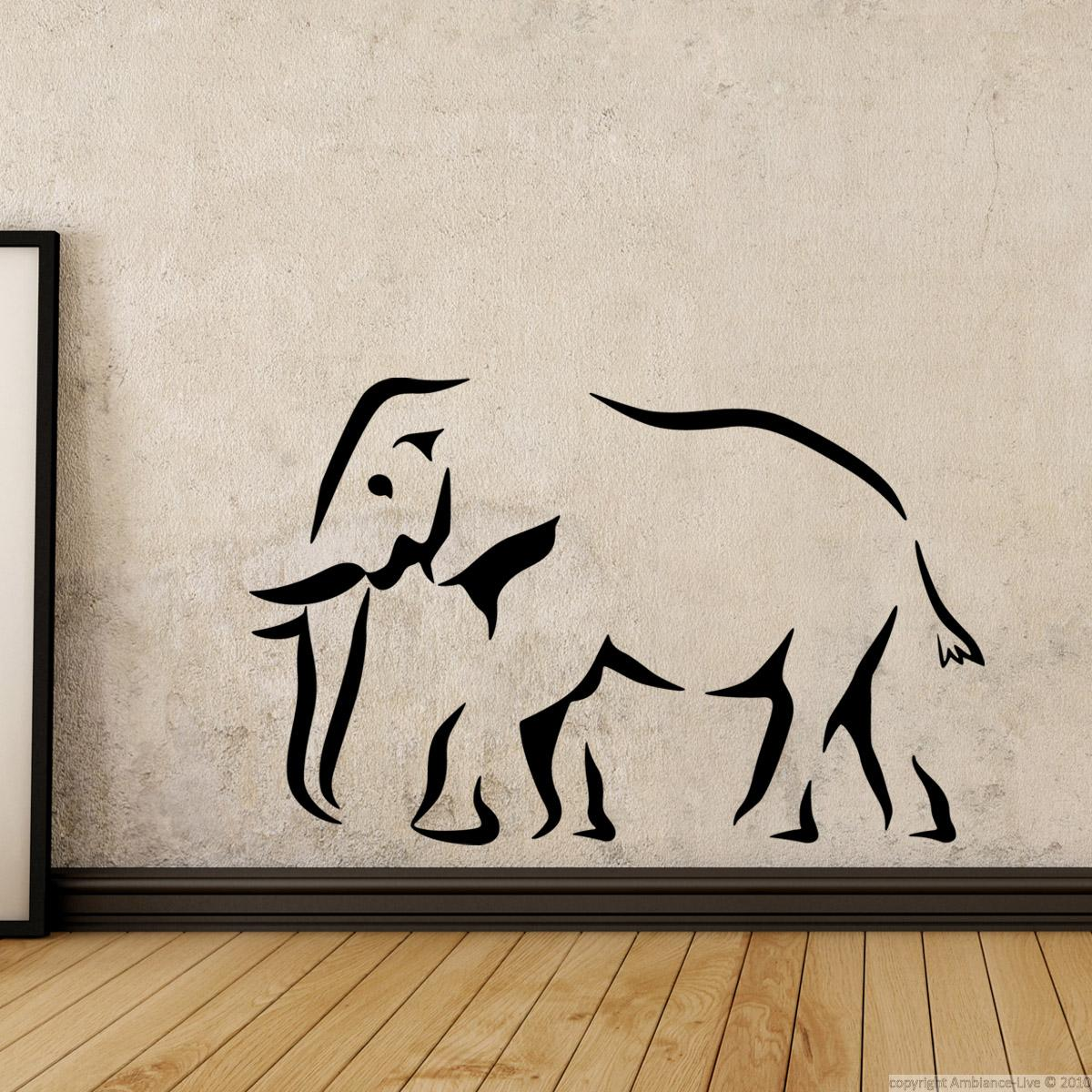 Animals Wall Decals Elephant Silhouette Wall Decal