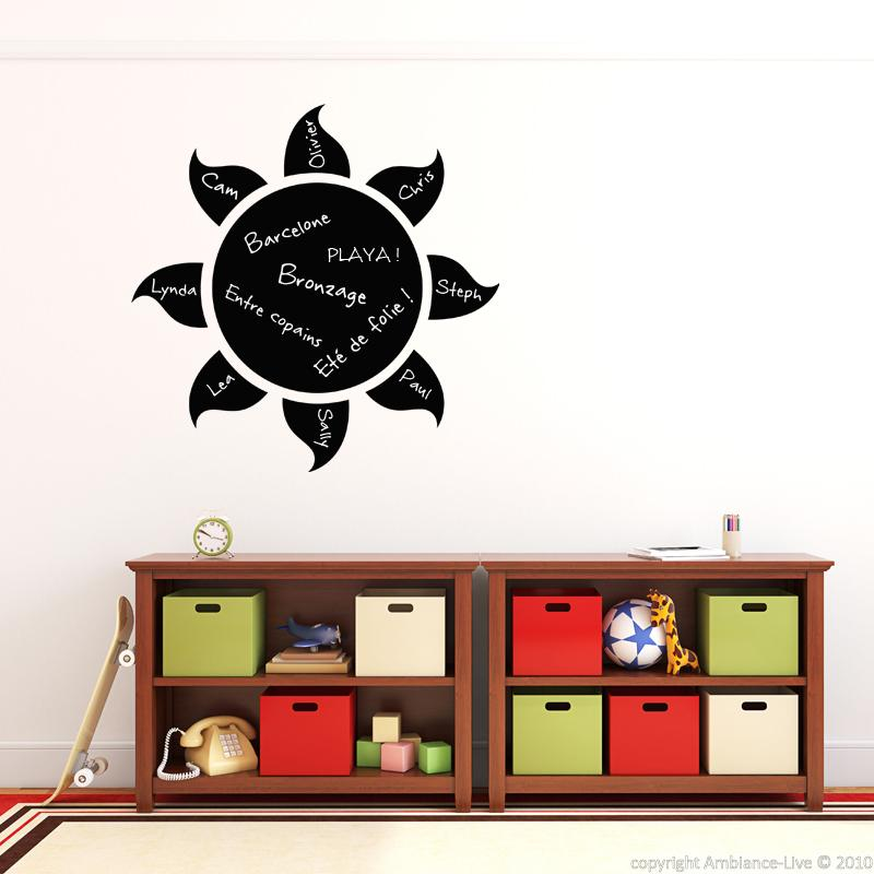 wall decal slate sun design stickers playroom ambiance. Black Bedroom Furniture Sets. Home Design Ideas