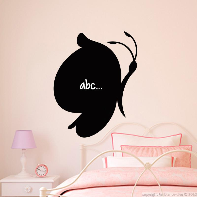 wall decal slate butterfly cartoon stickers playroom. Black Bedroom Furniture Sets. Home Design Ideas