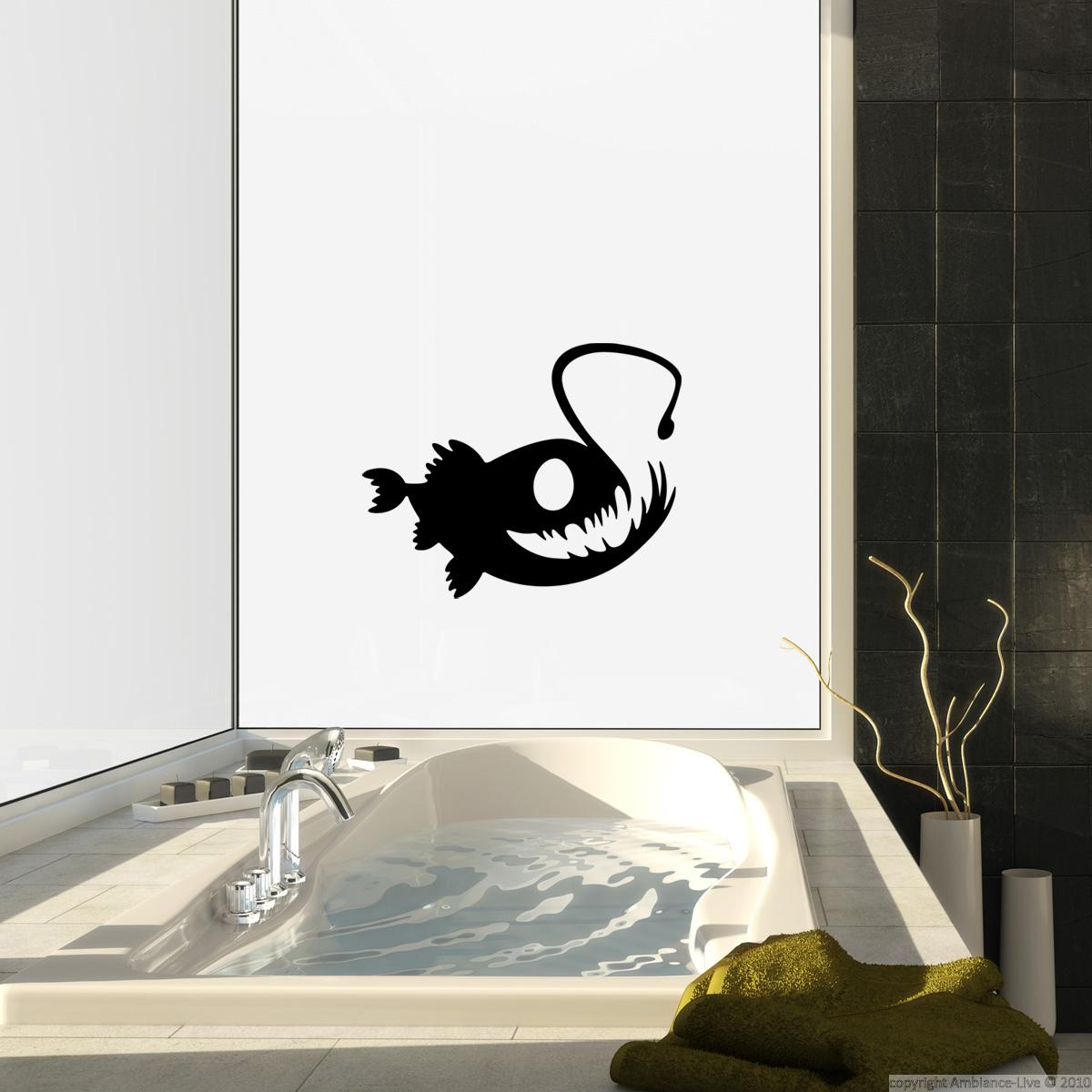 stickers muraux pour salle de bain sticker mural dr le p cheur. Black Bedroom Furniture Sets. Home Design Ideas