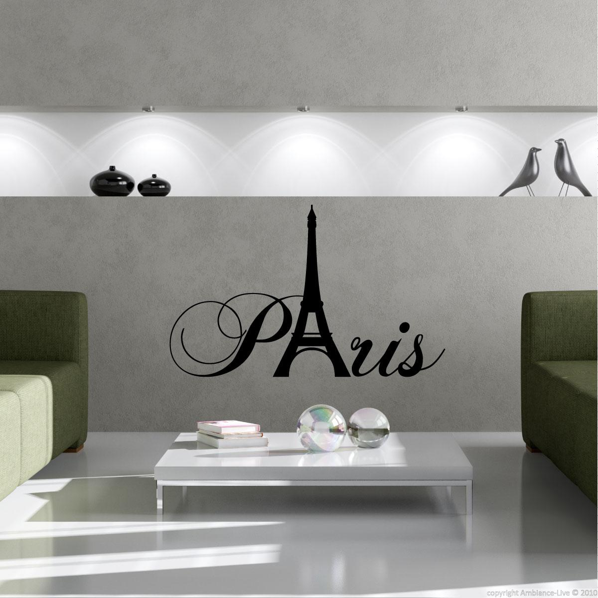 City wall decals wall decal paris with eiffel tower ambiance - Stickers muraux paris ...