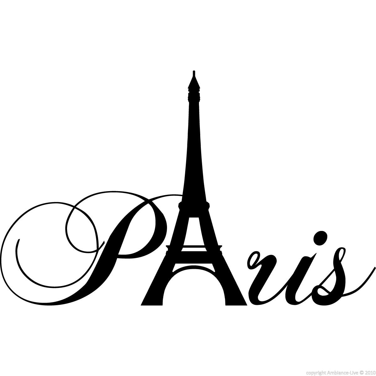 city wall decals wall decal paris with eiffel tower ambiance. Black Bedroom Furniture Sets. Home Design Ideas