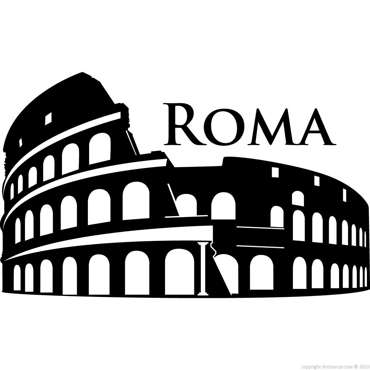 City wall decals wall decal rome colosseum ambiance for Wall stickers roma