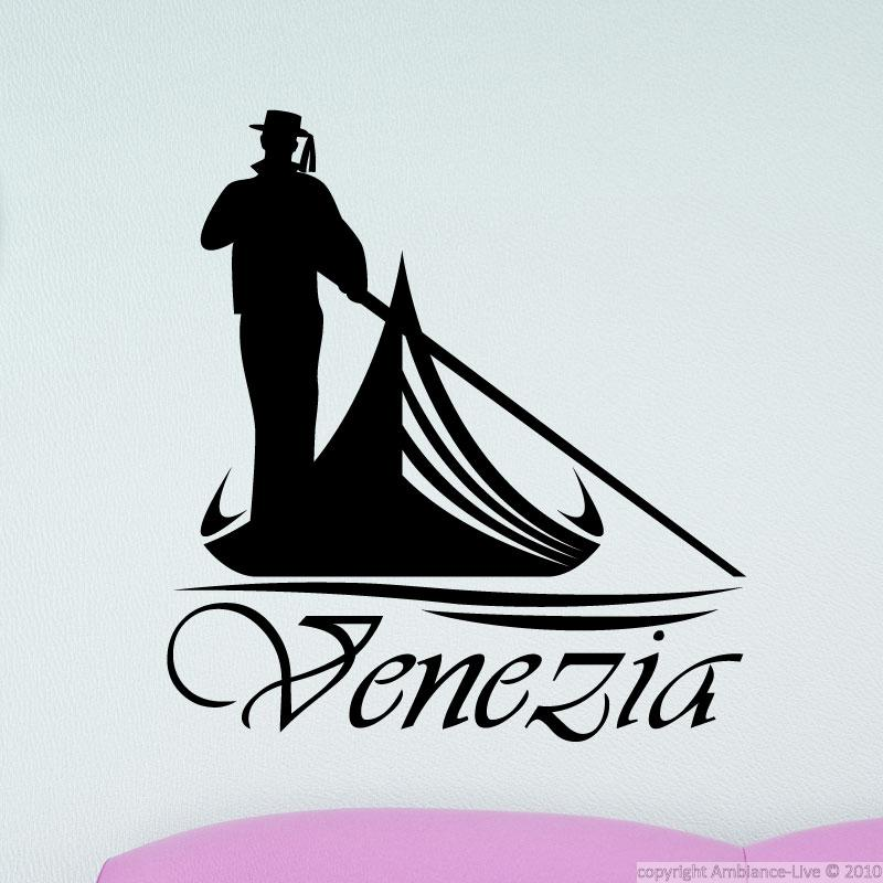 City Wall Decals Decal Venice Gondola Ambiance