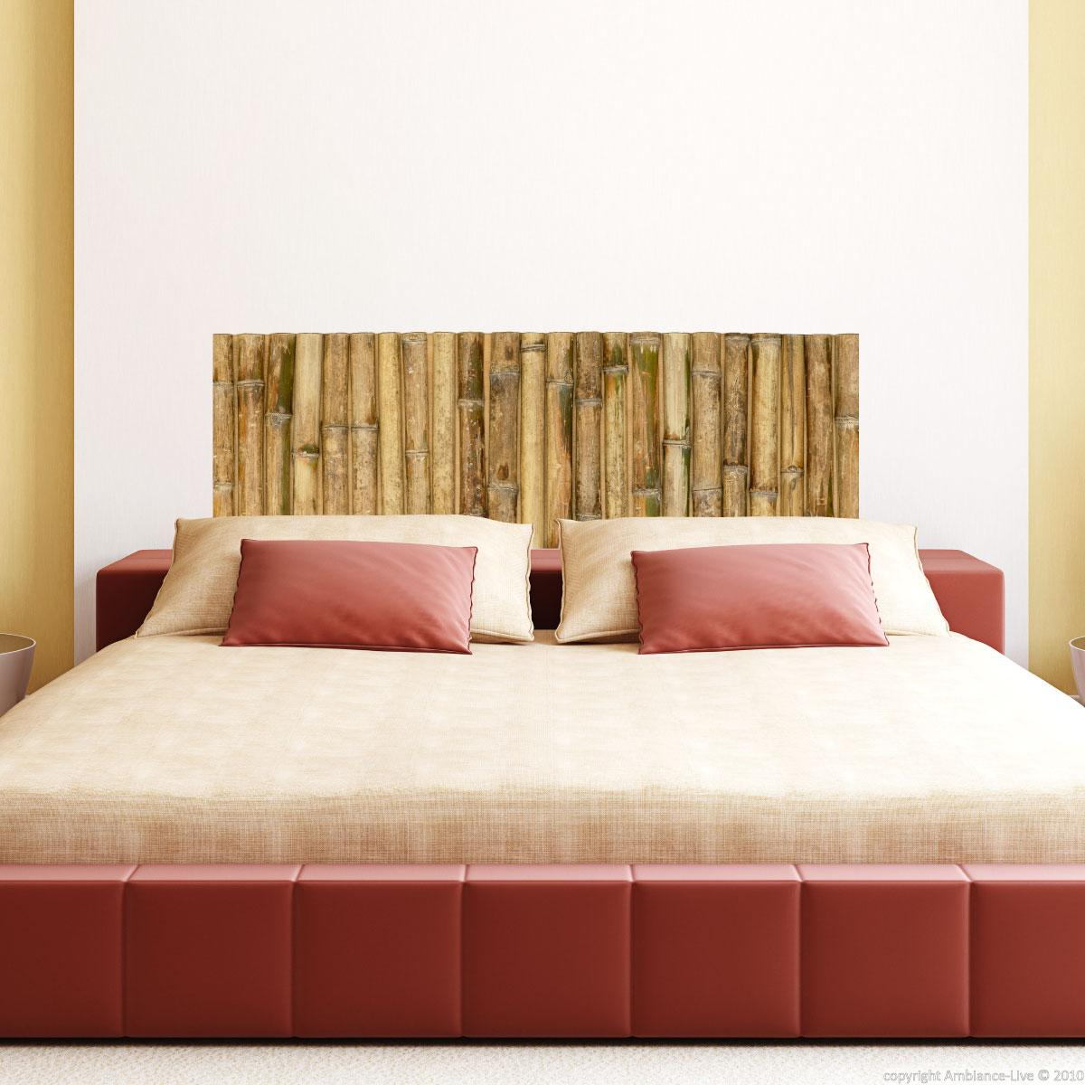 wall decal large bamboo design stickers bedroom