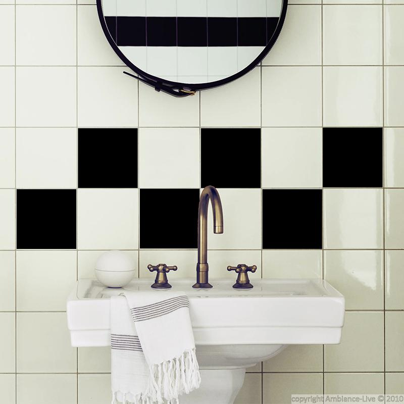 decal for tiles black squares wall decal bathroom ambiance sticker