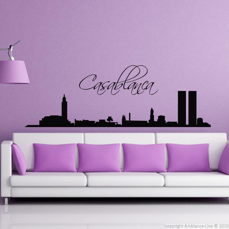 Wall decal city of casablanca wall decal cities and for Stickers muraux