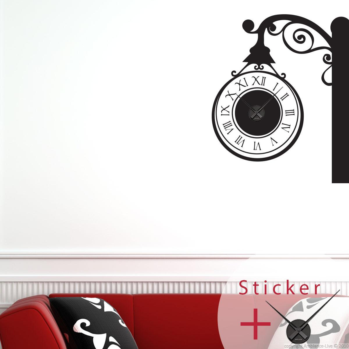 Clocks Wall decals - Wall decal in corner  Ambiance-sticker.com
