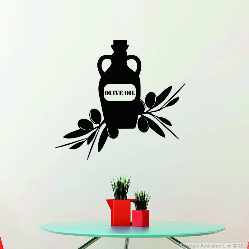 Wall decals for the kitchen wall decal olive oil for Ambiance decoration