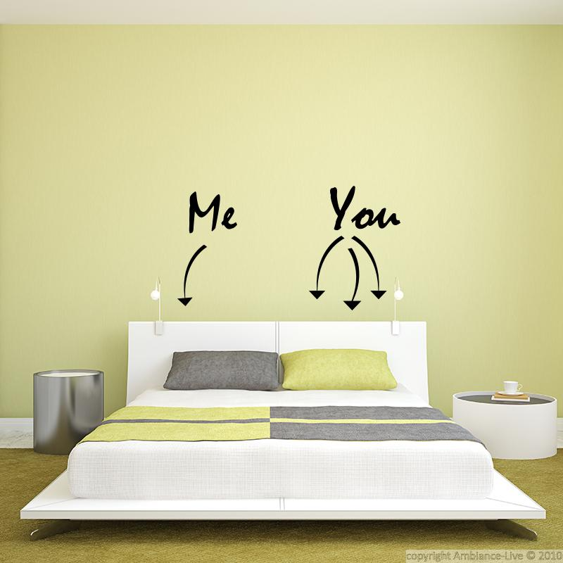 Stickers muraux pour chambre sticker mural me you for Stickers muraux chambre