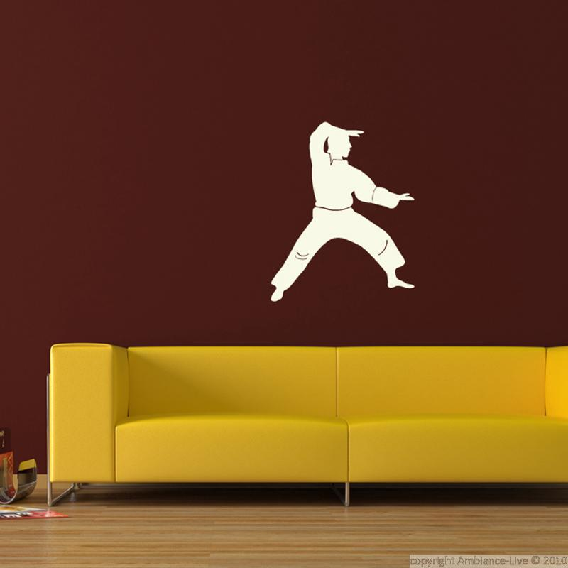 Stickers muraux sport et football sticker karate for Decoration chambre karate