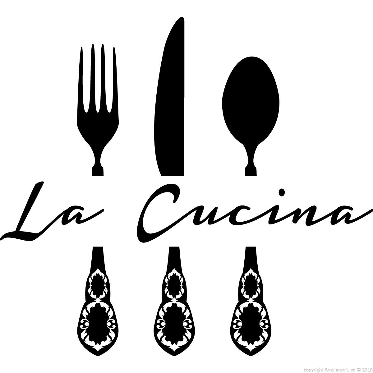 Stickers muraux pour la cuisine sticker la cucina 2 for Stickers cucina