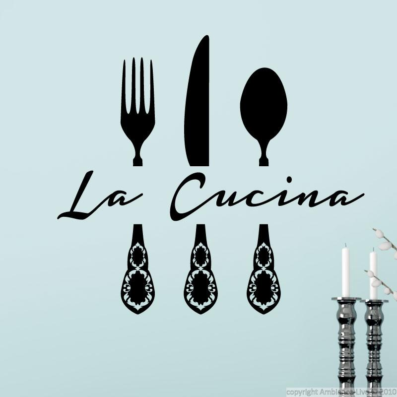 Wall Decals For The Kitchen Wall Decal La Cucina 2 Ambiance