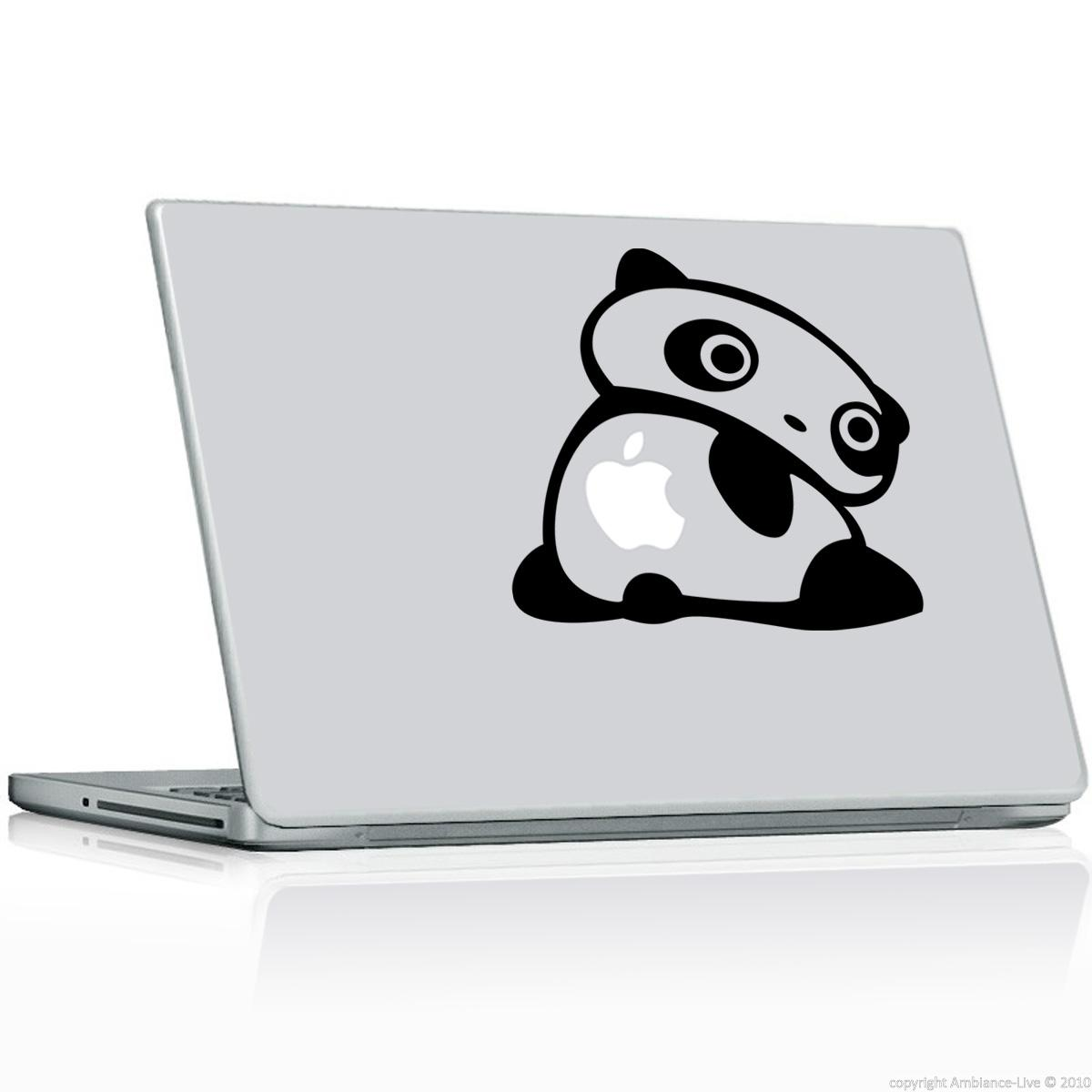 stickers ordinateurs portables sticker panda tourne. Black Bedroom Furniture Sets. Home Design Ideas