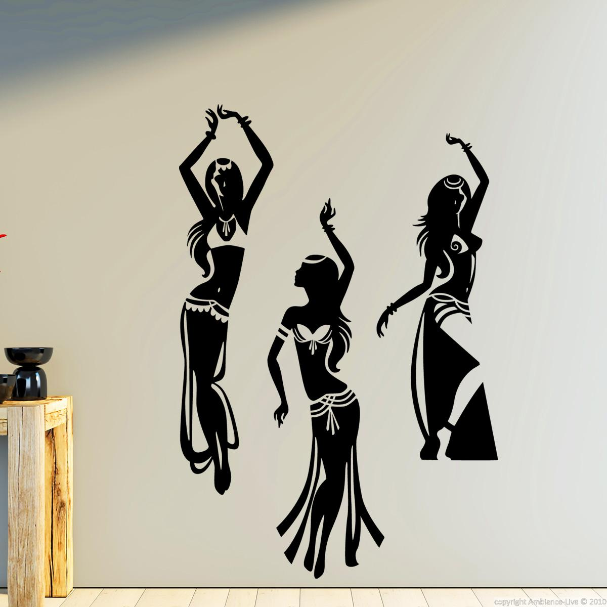 Wall Decals Music Wall Decal Indian Dancing Girls