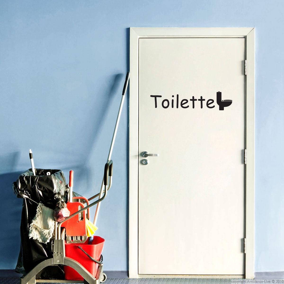 Sticker porte toilette stickers salle de bain et wc for Stickers pour porte toilettes