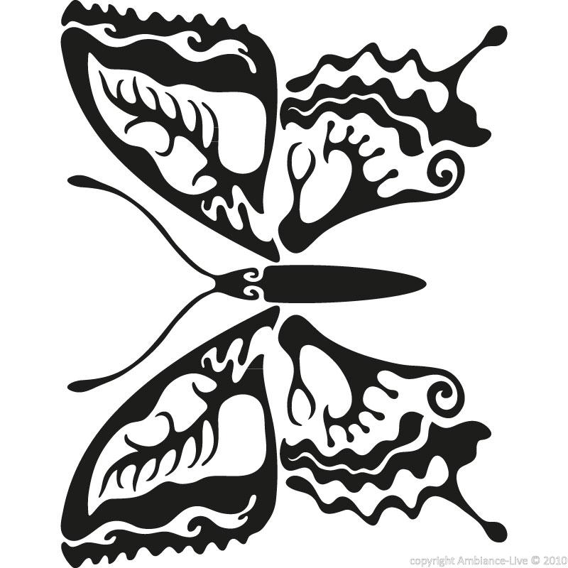 Farfalle decorative ambiance sticker ros butterfly - Farfalle decorative per pareti ...