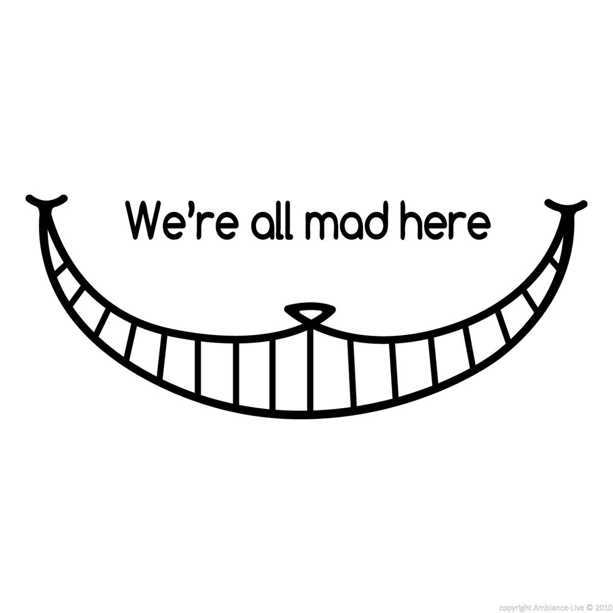 wall decals for kids cheshire cat smile wall decal