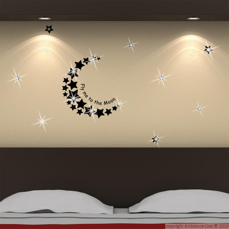 Wall Decals Swarovski Elements Wall Decal Fly Me To The