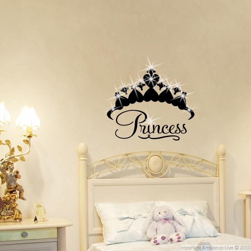 wall decals swarovski elements wall decal princess crown ambiance