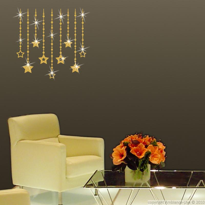 Wall decals swarovski elements wall decal star for Ambiance decoration