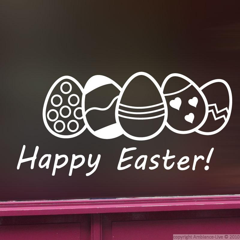 Shop Window Sign Decals Wall Decal Easter 2 Ambiance