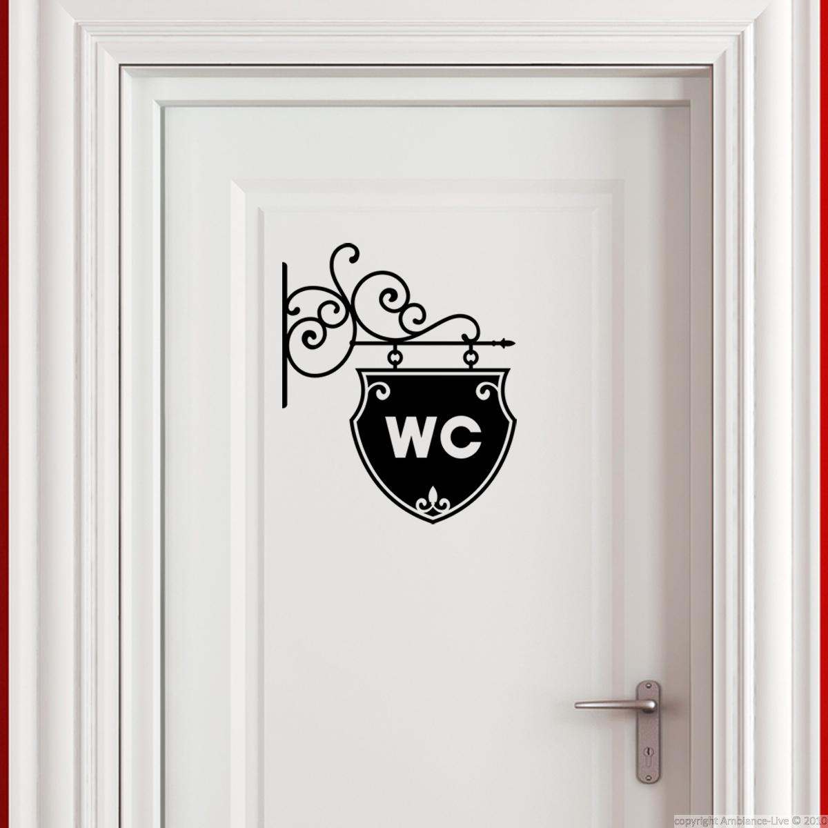 stickers muraux pour wc sticker mural plaque pour wc ambiance. Black Bedroom Furniture Sets. Home Design Ideas