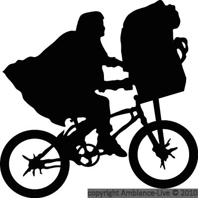 Movie Wall Decals Decal ET Flying Bike Ambiance