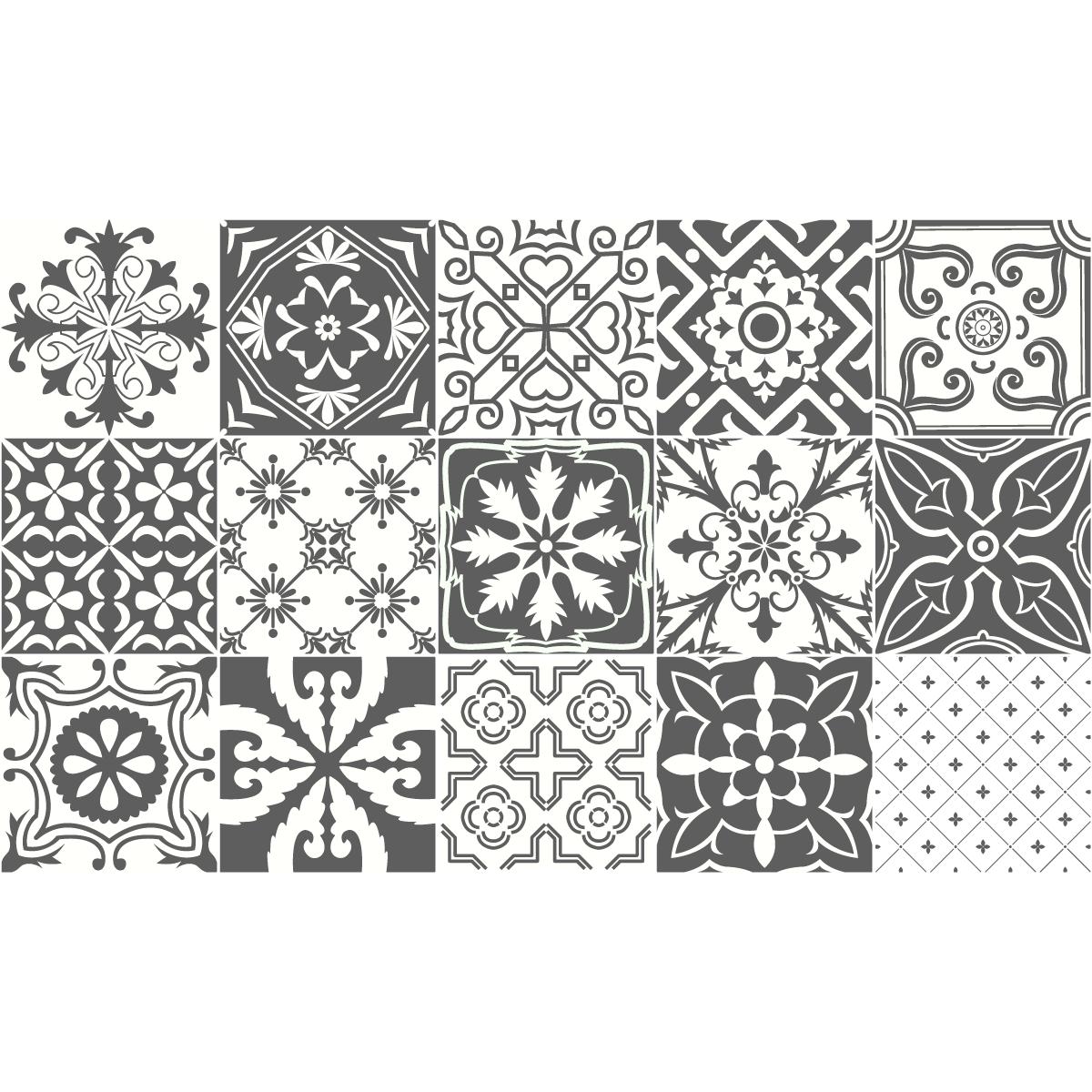 15 stickers carreaux de ciment napoli salle de bain et. Black Bedroom Furniture Sets. Home Design Ideas