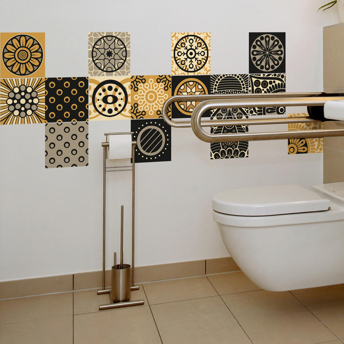 15 stickers carrelages azulejos san juan salle de bain - Stickers pour carreaux salle de bain ...