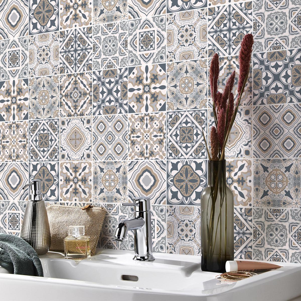Carreau De Ciment Toilette 24 stickers carreaux de ciment azulejos giacomo