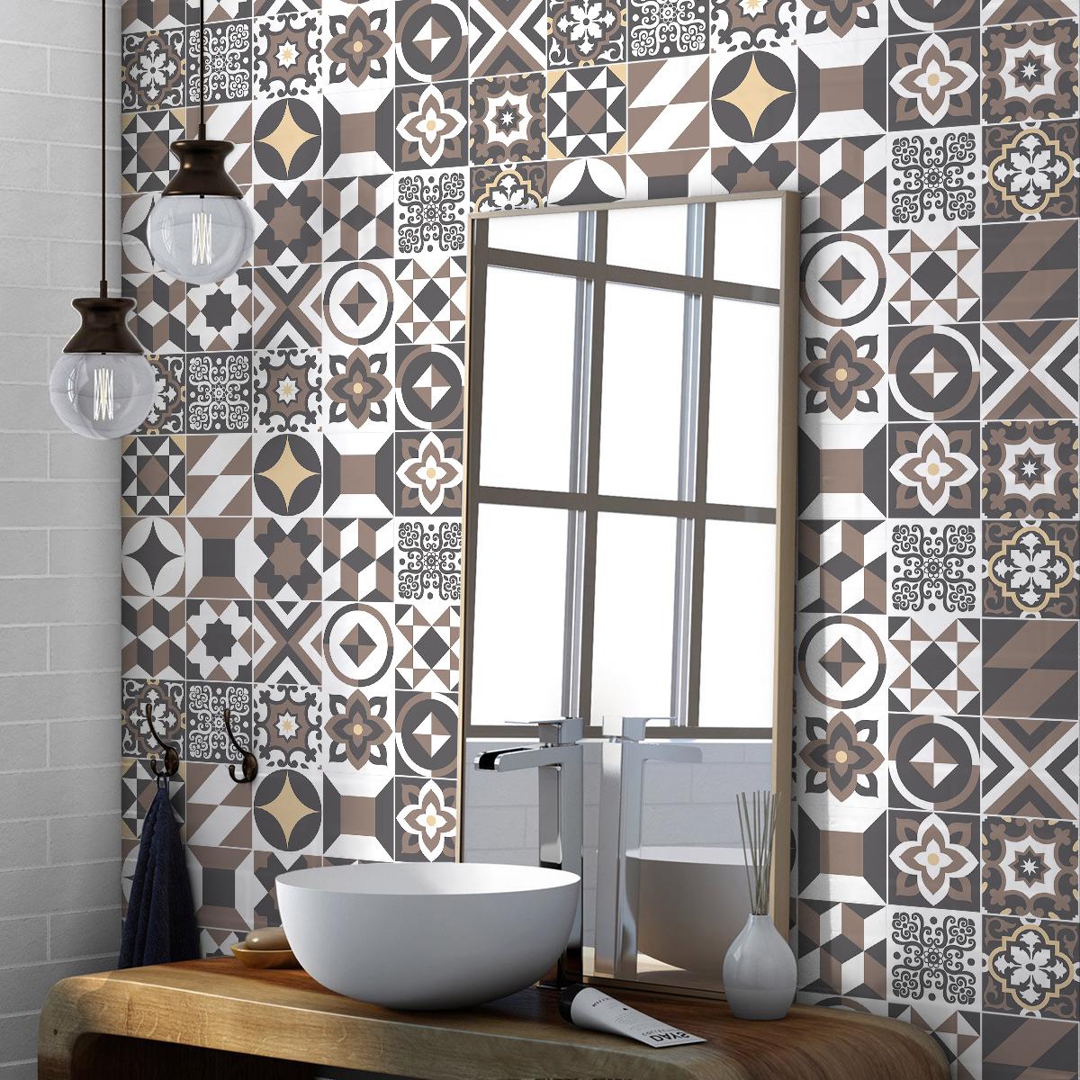 24 wandtatoos Zementfliesen azulejos solenzara