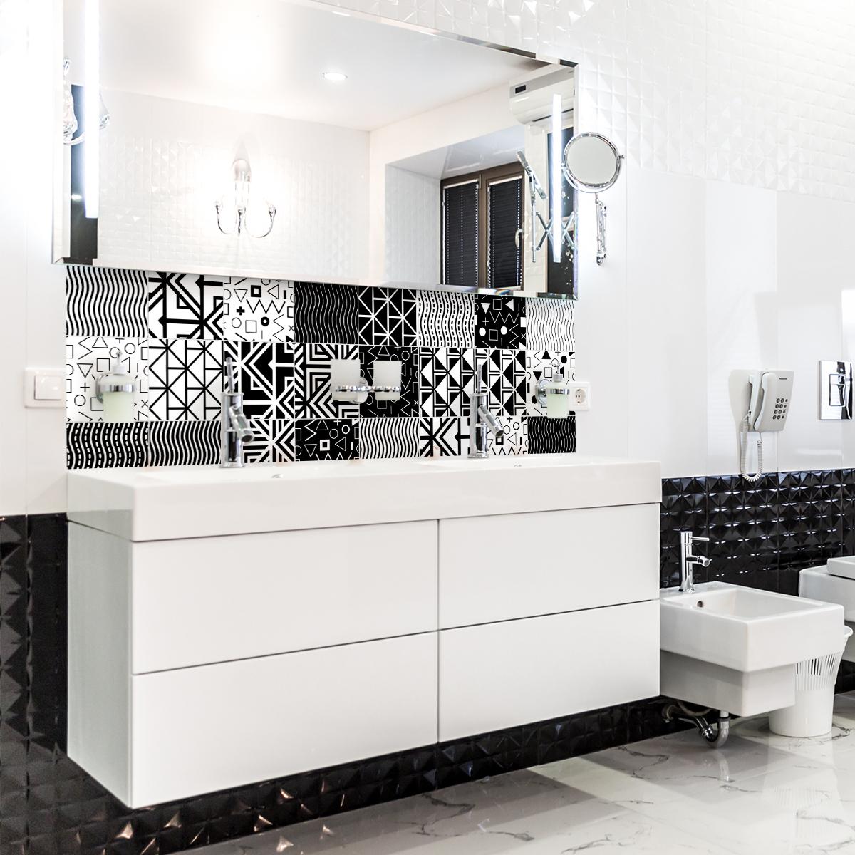 24 stickers carreaux de ciment ethnique varna stickers. Black Bedroom Furniture Sets. Home Design Ideas